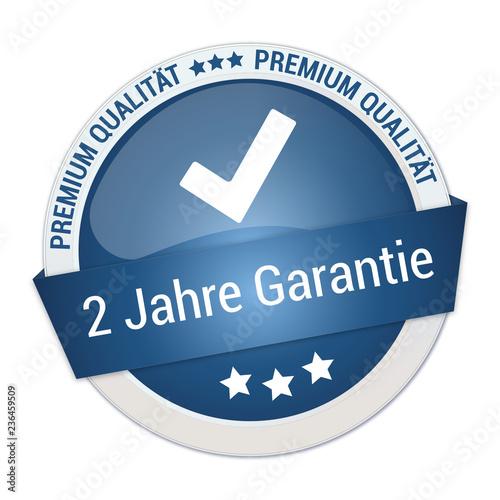 blaue Auszeichnung für zwei Jahre Garantie Canvas Print