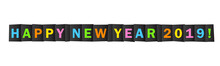 HAPPY NEW YEAR 2019 Colorful Letters Banner