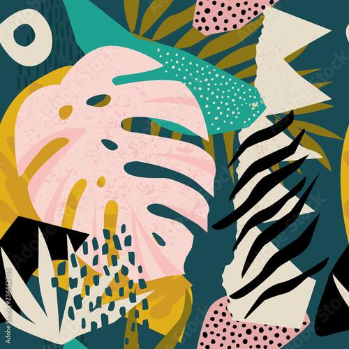 kolaz-wspolczesny-kwiatowy-wzor-hawajski-bezszwowa-konstrukcja-powierzchni