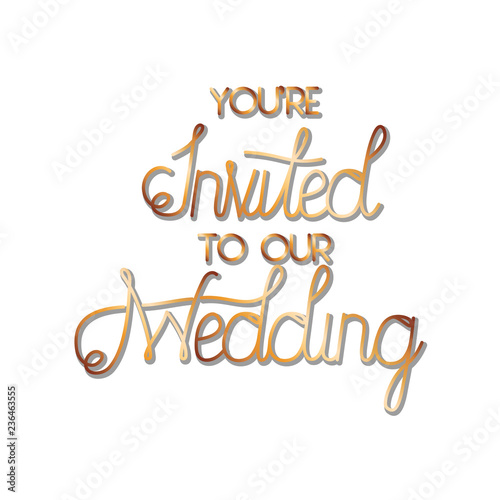 You Are Invited To Our Wedding Label Buy This Stock Vector And