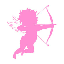 Cupid Pink Silhouette. Valenti...