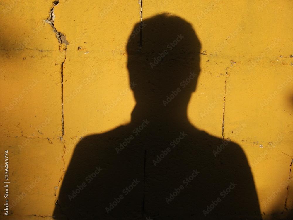 Photo Art Print Presencia Sombra De Una Persona Sobre Una Pared