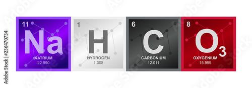 Vector symbol of Sodium bicarbonate NaHCO3 compound