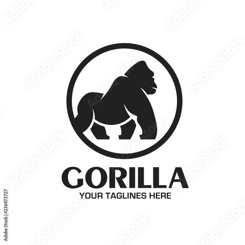 Photo  creative and strong Gorilla logo vector isolated on white background