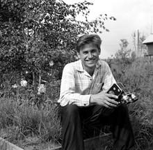Smiling Man With Retro Film Video Camera