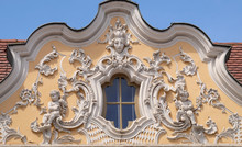 House Of Falcon, The Finest Rococo Style Building In The Wurzburg, Germany;