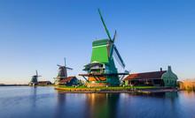 Netherlands Windmills,Zaanse S...