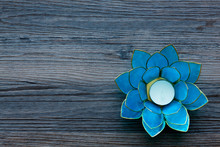 Blue Tealight Holder In The Sh...