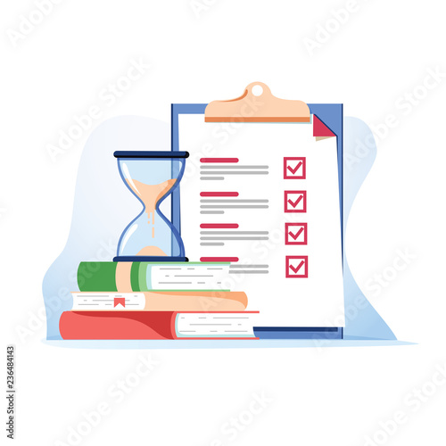 Exam preparation school test Canvas Print