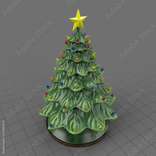 Ceramic Christmas Tree Buy This Stock 3d Asset And Explore Similar