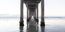 Scripps Pier With Working Spac...
