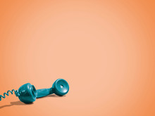Vintage Telephone On Orange Background