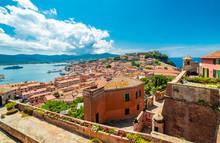Old Town And Harbor Portoferraio, Elba Island, Italy