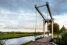 Footbridge Over Canal By Lands...