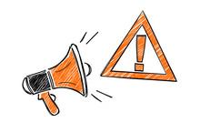 Danger Attention Mégaphone