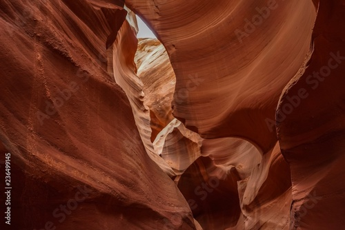 Beautiful view of the inside of the antelope Canyon in Arizona