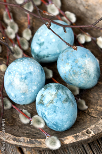 Colorful easter eggs, spring holiday background