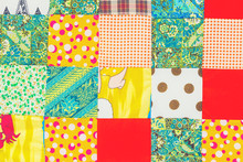 Background Of Colorful Patchwork Fabrics