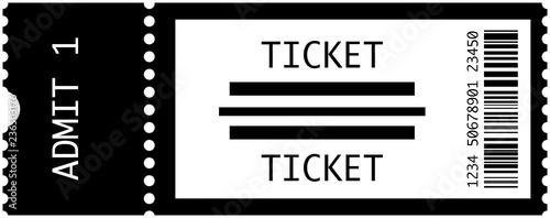 Concert Tickets Vector Canvas Print