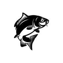 Carp Fish, Fishing Symbol