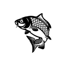 Carp Fish, Fishing Symbol