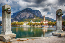 Lakefront Of The City Of Lecco (Lake Como)