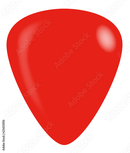 Slika na platnu Red Isolated Guitar Plectrum