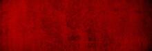 Weihnachtliche Betontextur In Gleichmäßig Warmem Rot Als Hintergrund Banner In XXXL
