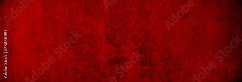 Fotografie, Obraz Weihnachtliche Betontextur in gleichmäßig warmem Rot als Hintergrund Banner in X