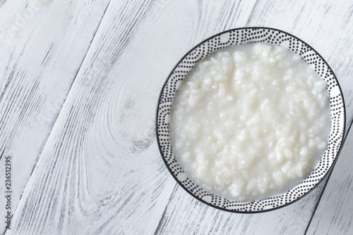 Bowl of congee - Asian rice porridge