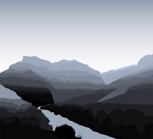 Western Desert Background. Roc...