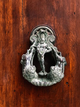 Baroque Knocker In Venice Italy