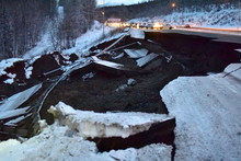 Alaska Earthquake Damage On Th...