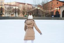 Woman Skates Outdoors