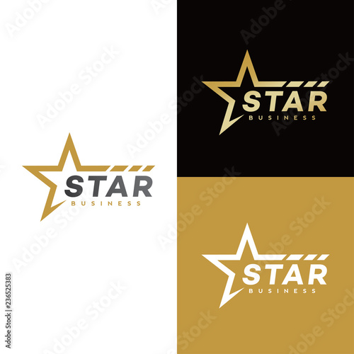 Obraz star logo design - fototapety do salonu