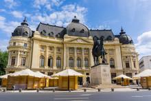 Central University Library (Biblioteca Centrala Universitara) In Downtown Bucharest, Romania