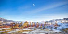 Oregon Painted Hills Moonrise Panorama