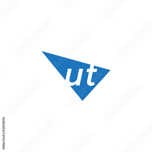 Photo  initial two letter ut negative space triangle logo