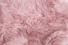 Pink Sheep Fur Natural Sheepsk...