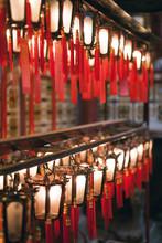 Lanterns At Chinese Temple