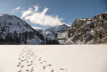 Footprints On A Frozen Lake