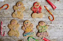 Gingerbread Men Covered In Sprinkles