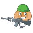 Army hot cross buns on cutting cartoon