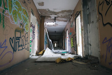 Abandoned Hallway Of Apartment...
