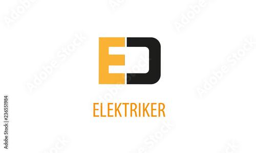 Fényképezés  Elektriker Logo ,  Elektroinstallateur  Logo , Elektrotechniker Logo