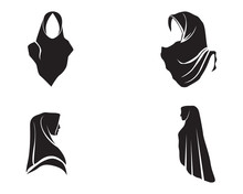 Hijab Vector Black Logo