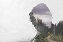 Composite Image Of Woman With Nature