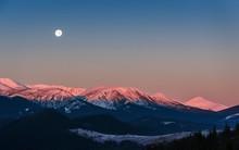 Full Moon Above The Sunrise Sn...