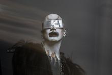 Techno Goth Fashion Portrait