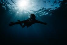 Freediver Exploring Water Of O...